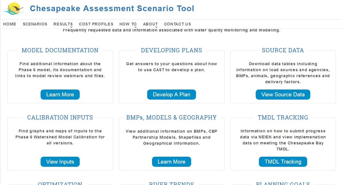 [Webcast] CAST Training: Chesapeake Assessment Scenario Tool